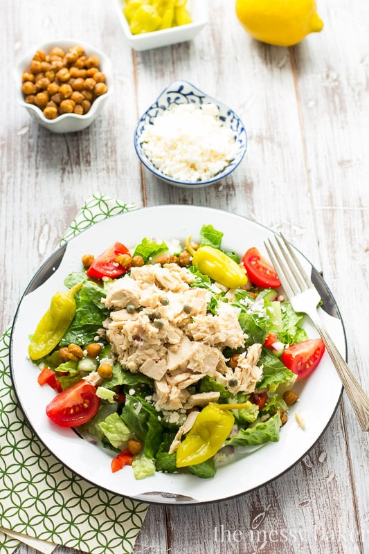 Mediterranean Chopped Salad with Tuna