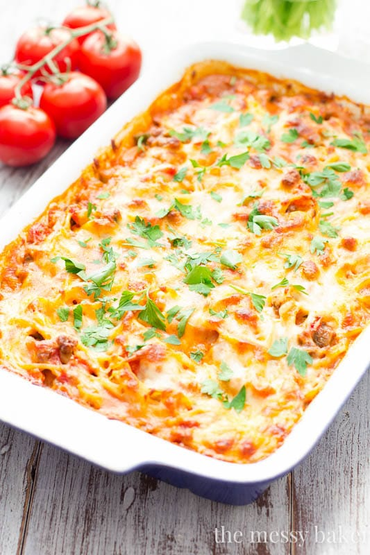 Southwestern Spaghetti Pie Casserole