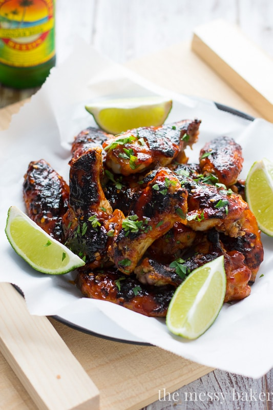 Sweet & Spicy Sriracha Glazed Wings {Baked, Not Fried}