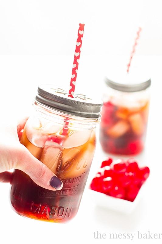 Black Cherry Cuba Libre Cocktail {aka Adult Cherry Coke}