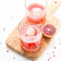Blood Orange Bourbon Fizz Cocktail | www.themessybakerblog.com