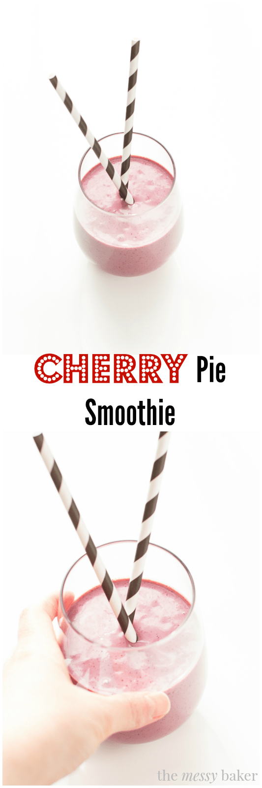 Cherry Pie Smoothie - One Sweet Mess