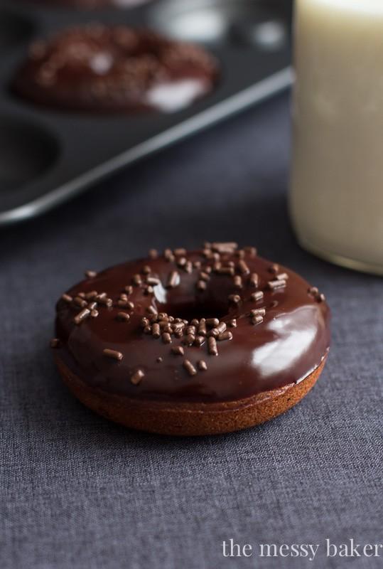 Healthy Mocha Donuts with Mocha Glaze