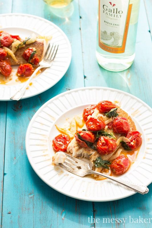 Mahi Mahi with Roasted Tomatoes and Fennel | www.onesweetmess.com