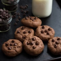 Double Chocolate Chip Cookies {For Two} | www.themessybakerblog.com
