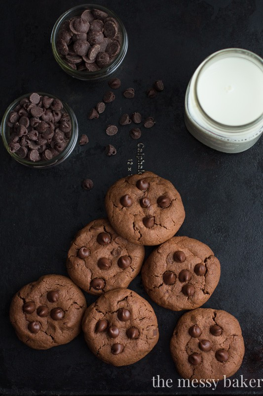 Double Chocolate Chip Cookies {For Two}