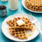 Funfetti Waffles {Gluten- and Dairy-Free} | www.themessybakerblog.com