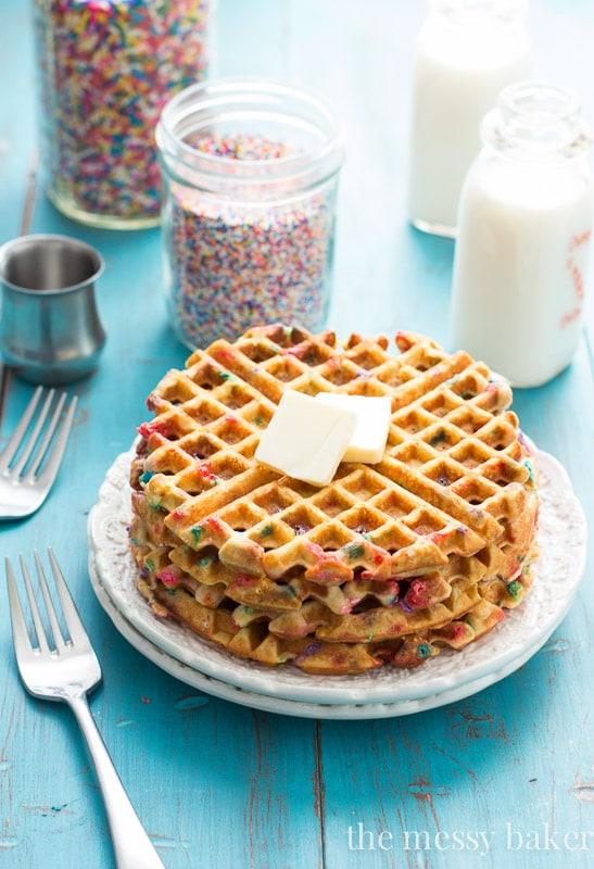 Funfetti Waffles {Gluten- and Dairy-Free}