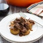Guinness Braised Brisket with Potatoes | www.themessybakerblog.com
