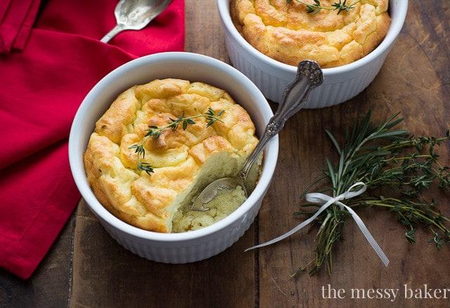 Herb & Cheese Potato Soufflés
