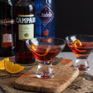 Classic Negroni Cocktail | A mixture of gin, campari, and sweet vermouth.