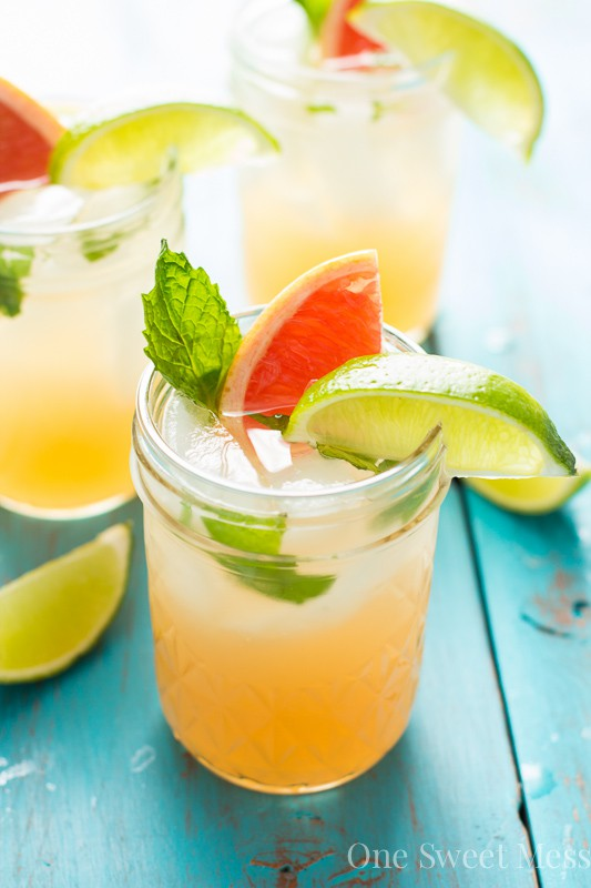 Grapefruit Honey Mojito