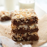 Almond Joy Brownies {made healthier}