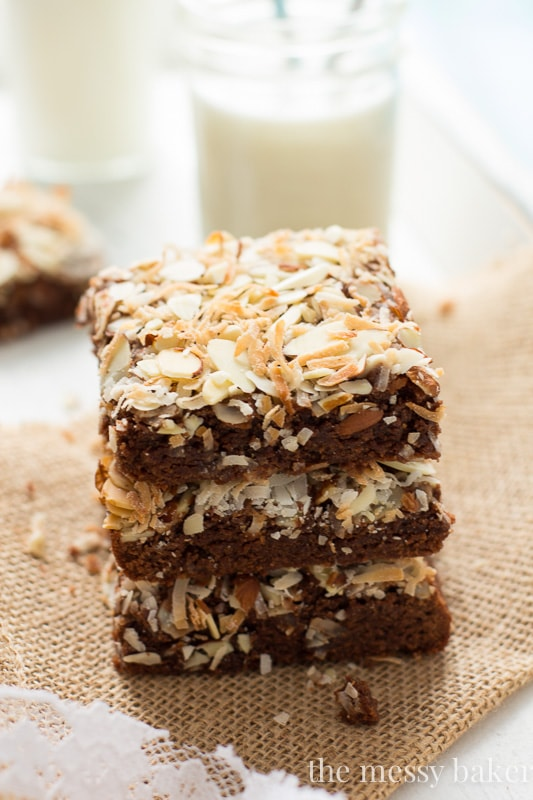 Almond Joy Brownies {made healthier}
