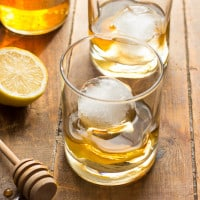 Honey Jack Cocktail | A refreshing mixture of AppleJack liquor, fresh lemon juice, and honey