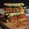 Roasted Tomato Caprese Grilled Cheese Sandwich
