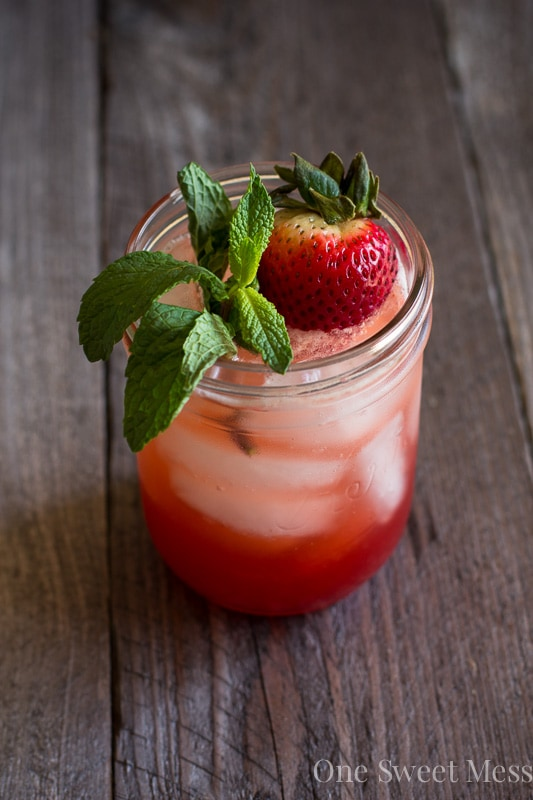 Strawberry Jam Bourbon Smash