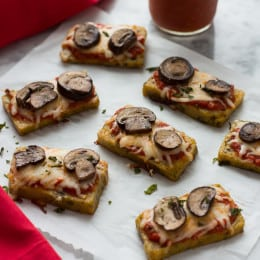 Mini Polenta Pizza Bites