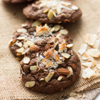 Double Chocolate Almond Joy Cookies