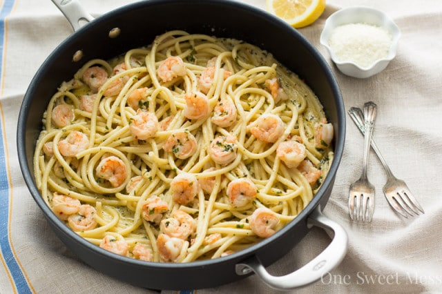 Lemon butter seafood pasta recipe