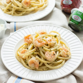 15-Minute Shrimp Linguine with Lemon Butter Cream Sauce