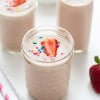 Strawberry-Banana Cake Batter Smoothie