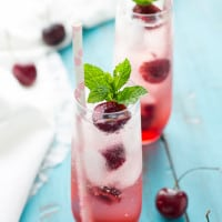 Cherry Kissed Prosecco Spritzer