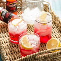 Cran-Apple Splash Cocktail | A mixture of mike's hard cranberry lemonade, apple cider, and apple-infused whiskey.