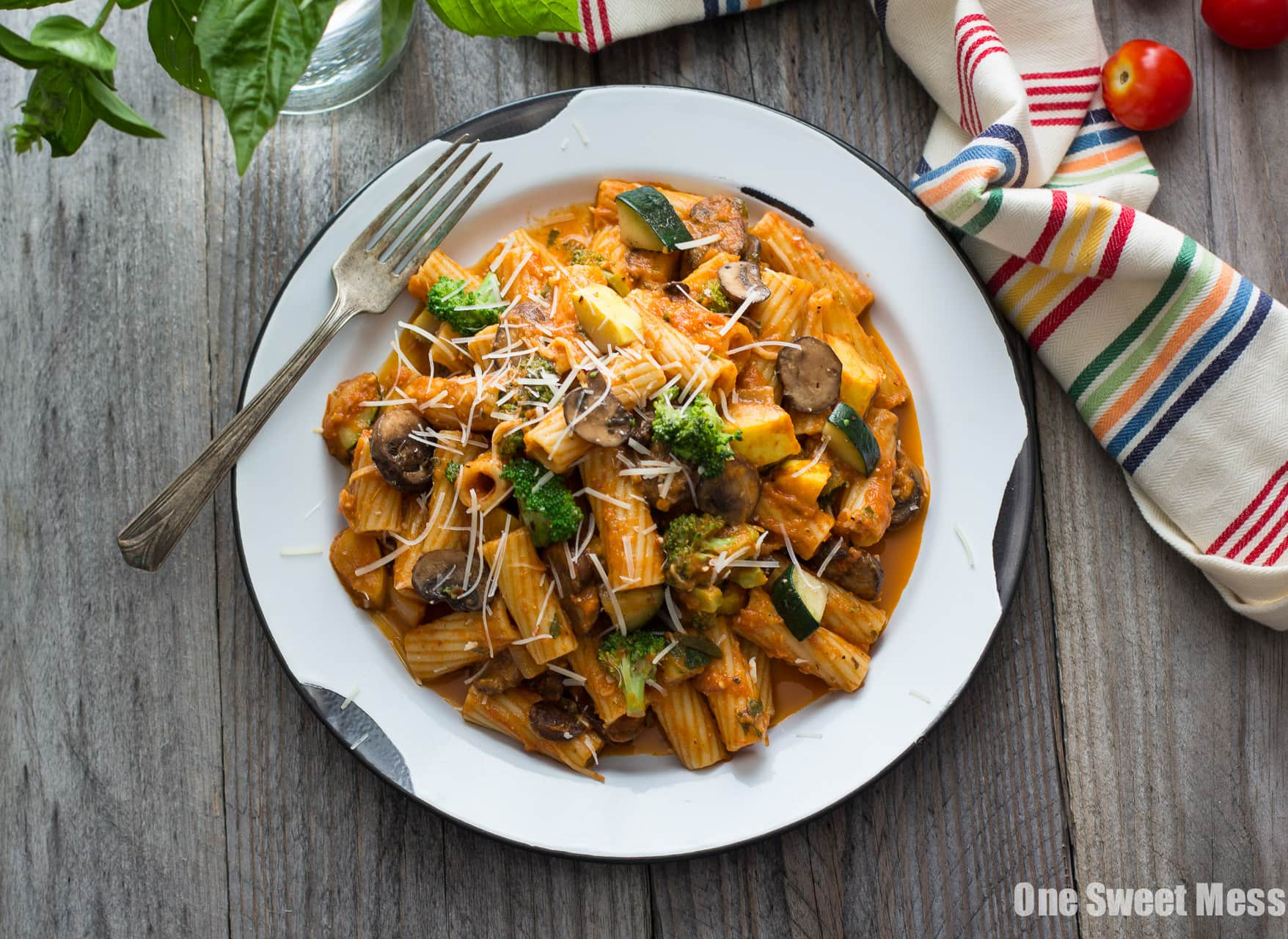 Roasted Marinara Pasta Primavera