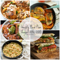 Week August 10 2015 Meal Plan + Grocery List