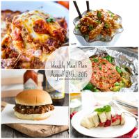 Weekly Meal Plan | August 24th, 2015 with Printable Menu + Grocery List