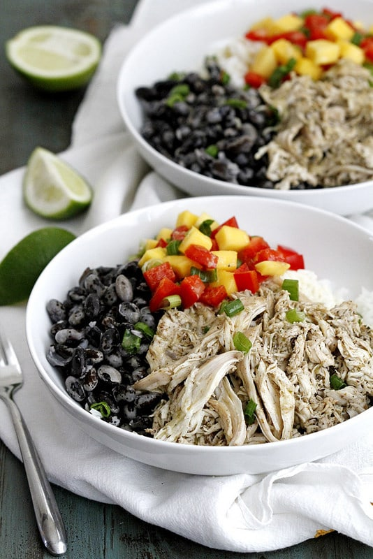 Caribbean Jerk Chicken Rice Bowls
