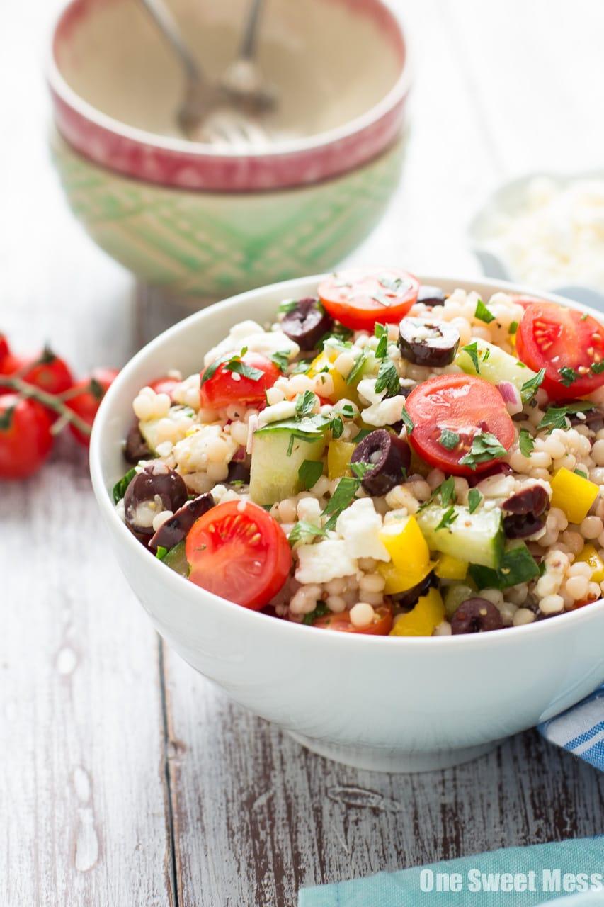 Greek Israeli Couscous Salad