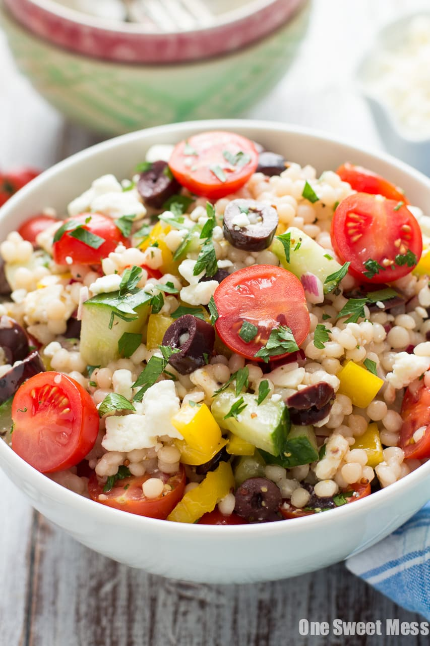 Greek Israeli Couscous Salad