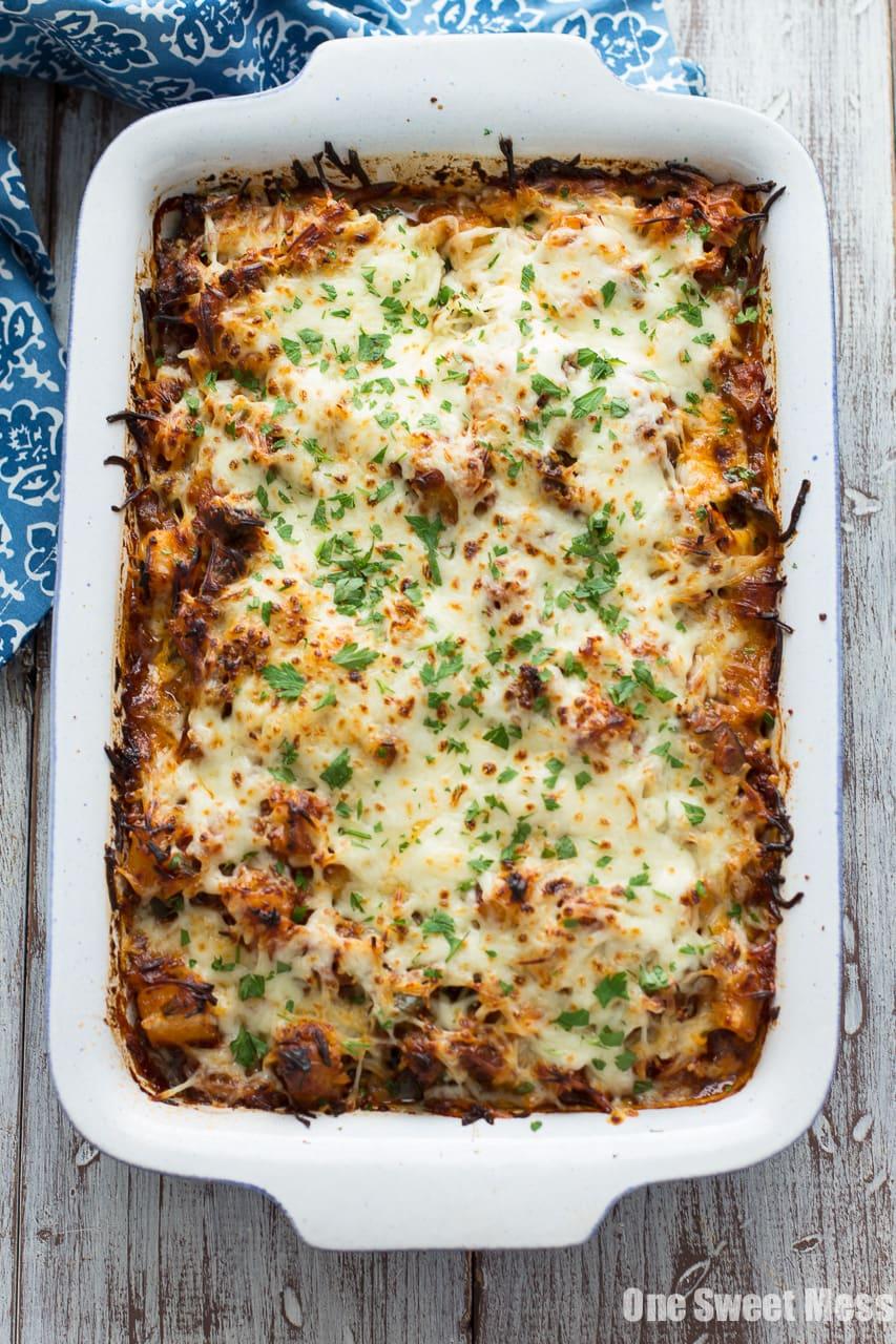 Sausage Pizza Au Gratin Potato Casserole