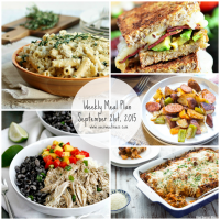 Week of September 21st, 2015 Meal Plan + Printable Grocery List