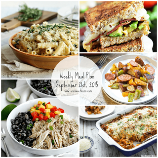 Week of September 21st, 2015 Meal Plan + Printable Grocery List