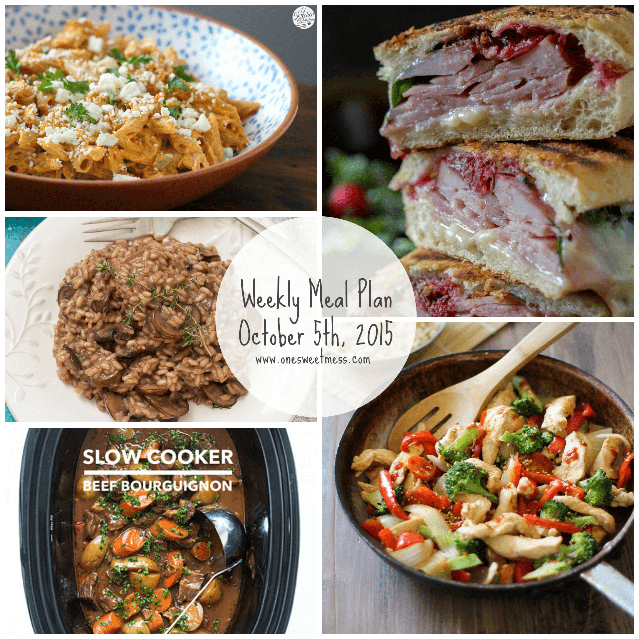 Weekly Meal Plan + Printable Grocery List