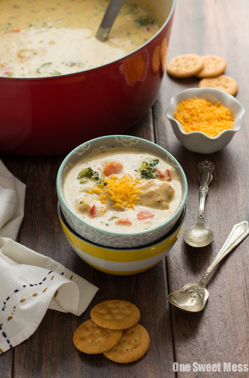 Cheesy Chicken & Veggie Chowder