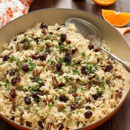 Cranberry-Orange Rice Pilaf with Toasted Pecans
