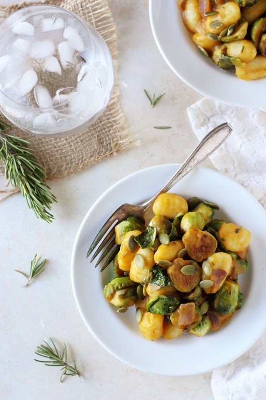 Creamy Pumpkin and Brussels Sprout Gnocchi