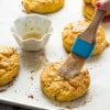 Pumpkin Biscuits with Brown Sugar Pumpkin Spice Glaze