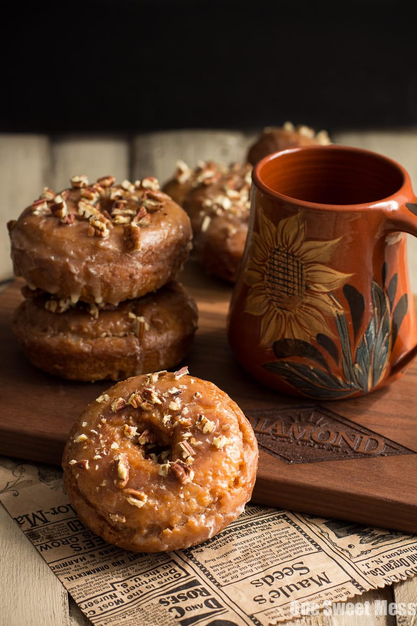 Pumpkin Spice Donuts with Maple Glaze