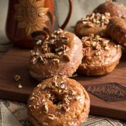 Pumpkin Spice Donuts with Maple Glaze