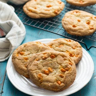 Pumpkin Spice Snickerdoodles: These soft, gooey cookies are loaded with pumpkin spice baking chips and rolled in a pumpkin spice sugar mixture.