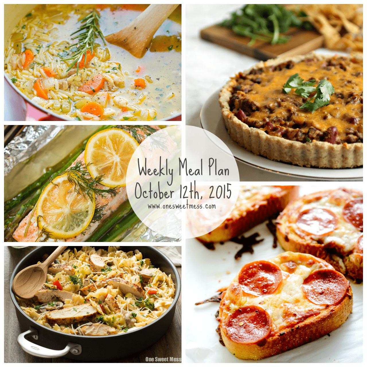 Weekly Meal Plan + Printable Grocery List
