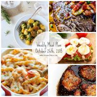 Weekly Meal Plan + Printable Grocery List | October 26th, 2015