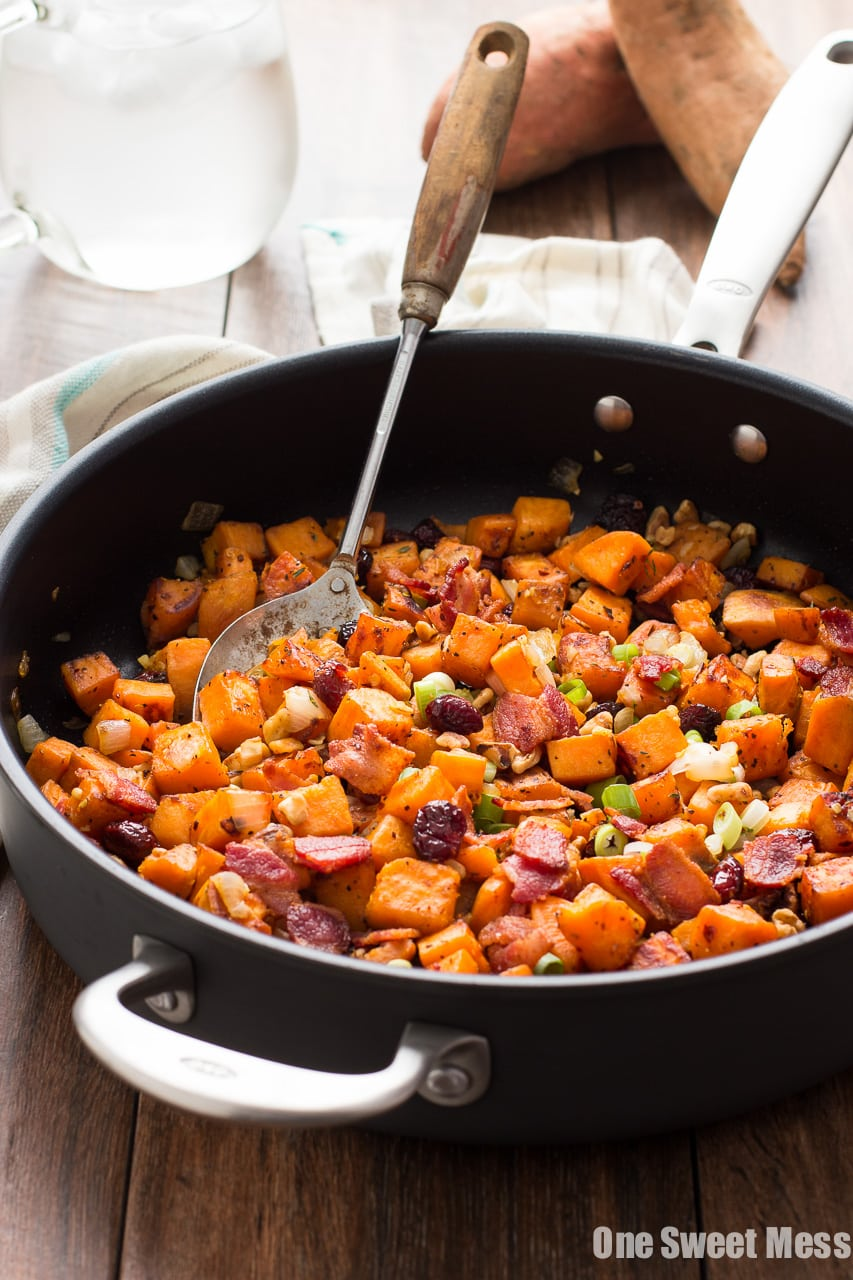 Cranberry-Walnut Sweet Potato Hash