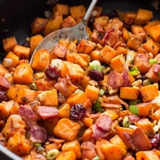 Cranberry-Walnut Sweet Potato Hash