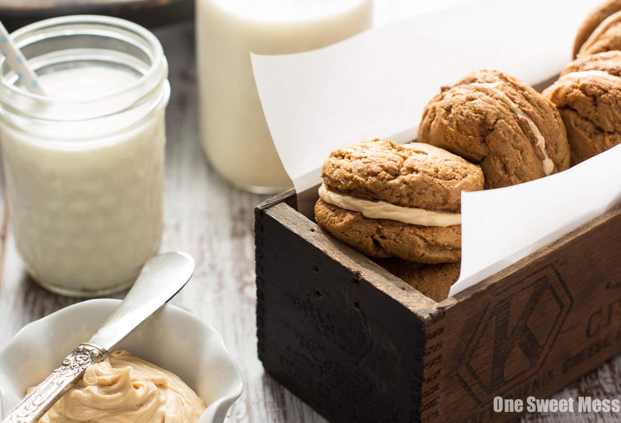 Pumpkin Cookie Butter Ginger Sandwich Cookies